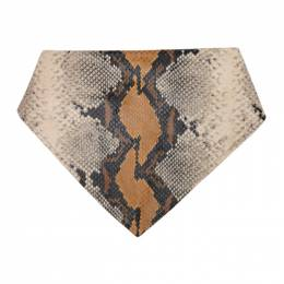 1017 Alyx 9Sm Grey and Tan Leather Animal Print Bandana Scarf AAUSC0012LE06.S21