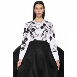 Comme des Garcons White Disney Edition Print Layered Mickey Mouse Long Sleeve T-Shirt GG-T027-051