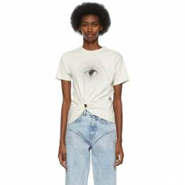 Paco Rabanne Off-White Eye Cropped T-Shirt 21EJTE050CO0378