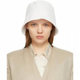 White Wrinkle Bucket Hat LOW21SS_HA01WH LOW CLASSIC
