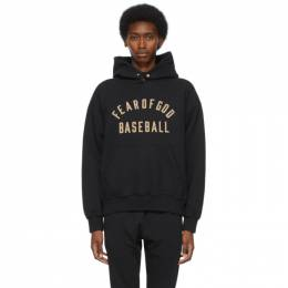Fear Of God Black Baseball Hoodie FG50-046FLC