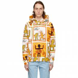 Etudes White Keith Haring Foundation Edition Racing Hoodie E18M-109-KH