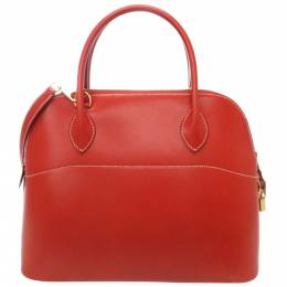 Hermes Red Box Leather Bolide 31 Bag 398153