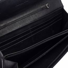 Dior Black Patent Leather Ultimate Rendezvous Flap Continental Wallet 405989