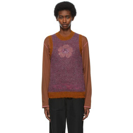 Marc Jacobs Purple and Orange Heaven by Marc Jacobs Mohair Vest P607W02SP21