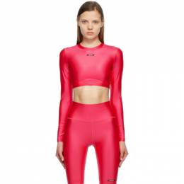 MSGM Pink Active Long Sleeve Sport Top 3045MDM03 217251
