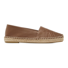 Max Mara Brown Leather Eli Espadrilles 45213511600 MM02130