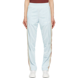 Palm Angels Blue and White Track Lounge Pants PWCA035S21FAB0014401