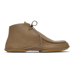 The Row Taupe Car Shoe Boots L1184