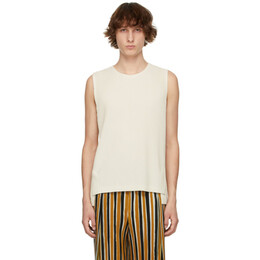 Homme Plisse Issey Miyake Off-White Monthly Color March Vest HP16JK116