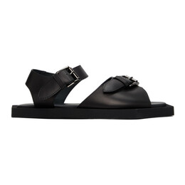 Opening Ceremony Black Square Warped Logo Sandals YMIH001S21LEA0011111