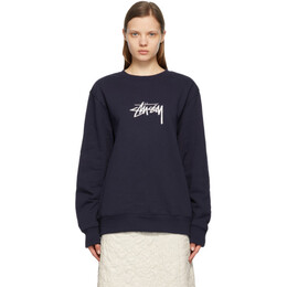 Stussy Navy Embroidered Stock Sweatshirt 118419