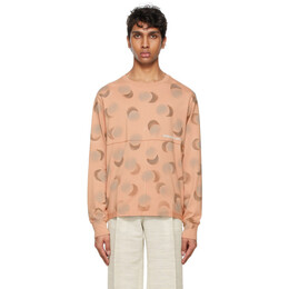 Eckhaus Latta Red Echo Dot Lapped Long Sleeve T-Shirt 302-EL-SS21-ED