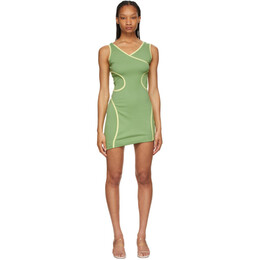 Eckhaus Latta Green Surface Dress 1005-EL-SS21-PI