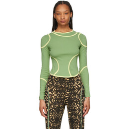 Eckhaus Latta Green Surface Long Sleeve T-Shirt 1006-EL-SS21-PI