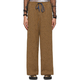 Eckhaus Latta Brown Beach Lounge Pants 1011-EL-SS21-CS
