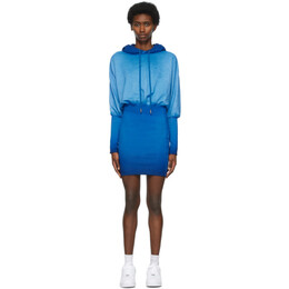 Opening Ceremony Blue Rose Crest Hoodie Dress YWDB007S21FLE0014747