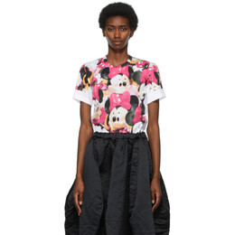 Comme des Garcons White Disney Edition Mickey Mouse Print T-Shirt GG-T035-051