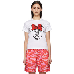 White Disney Edition Minnie Mouse Smile T-Shirt NG-T006-051 Comme des Garcons Girl