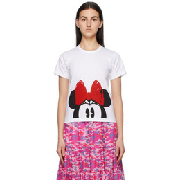White Disney Edition Minnie Mouse Eyes T-Shirt NG-T005-051 Comme des Garcons Girl