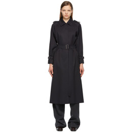 Max Mara Navy Wool Vitalba Trench Coat 10210211600 10202