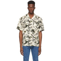 Norse Projects Off-White Floral Print Carsten Short Sleeve Shirt N40-0543