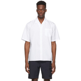 Norse Projects White Carsten Short Sleeve Shirt N40-0518