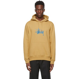 Stussy Beige Embroidered Stock Logo Hoodie 118425