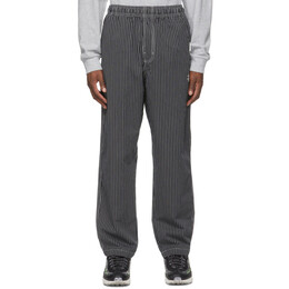 Stussy Black Relaxed Brushed Cotton Lounge Pants 116473