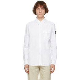 Belstaff White Twill Pitch Shirt 71120237
