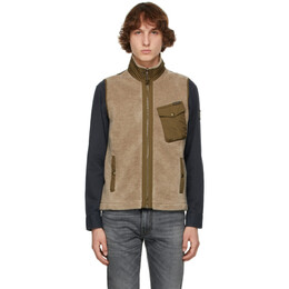 Belstaff Reversible Beige and Khaki Holt Vest 71070098