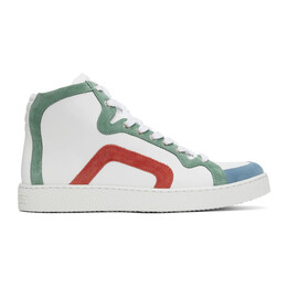 Pierre Hardy White and Green 103 High Sneakers VX01