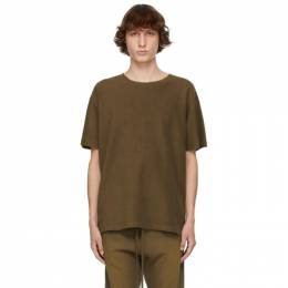 Fear Of God Brown Inside Out Terry T-Shirt FG50-027TER