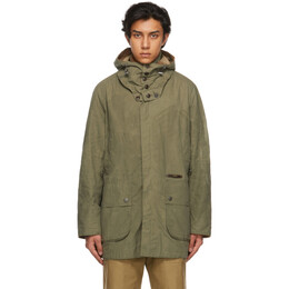 Barbour Green Overdyed Beaufort Casual Coat MCA0743GN31