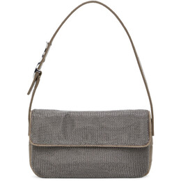 Staud Silver and Taupe Chainmail Tommy Bag 310-9368-RGCH