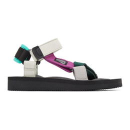 Suicoke Green and Off-White Hay Edition DEPA MIX K Sandals OG-022AabH / DEPA-Aab