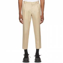 Wooyoungmi Beige One Pleat Trousers PT05