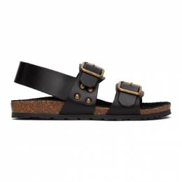 Saint Laurent Black Jam Flat Sandals 649425 12K00