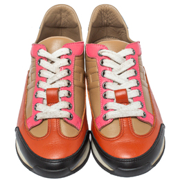 Hermes Multicolor Leather Trial Low Top Sneakers Size 36 413303