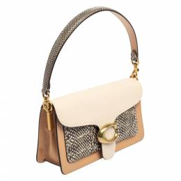 Coach Tricolor Leather and Snakeskin Tabby 26 Shoulder Bag 413190