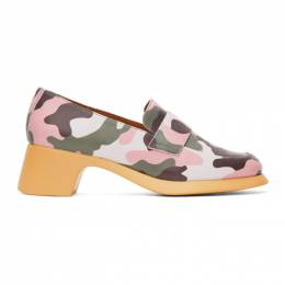 Green and Pink Camper Edition Camo Loafers Im Sorry by Petra Collins