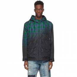 Neighborhood Black and Green Check Fade E Jacket 211SINH-JKM02