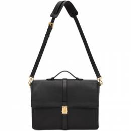 Tom Ford Black T Clasp Briefcase H0416T-LGO011