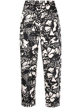 Tela floral cropped straight-leg trousers RIVOLI