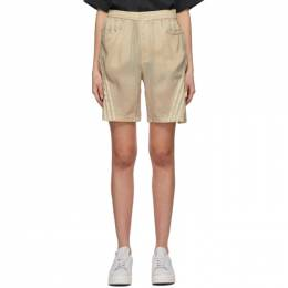 Y-3 Beige CH3 Sanded Cupro Shorts GT5303