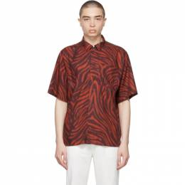 Tiger Of Sweden Red and Burgundy Farson Shirt T70042001