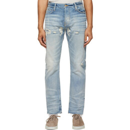 Fear Of God Blue Distressed Jeans FG40-015HWD