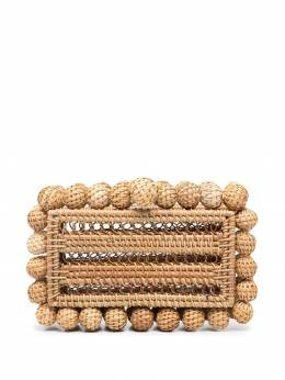 Cult Gaia Eos rattan clutch bag CL1540RT