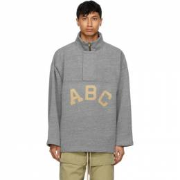 Fear Of God Grey ABC Pullover Zip-Up Sweater FG30-063TBF