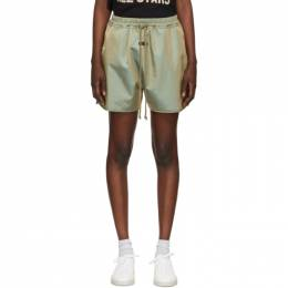 Fear Of God Green Iridescent Track Shorts FG40-024ITW